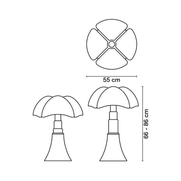sieges marco - lampe pipistrello originale dimensions