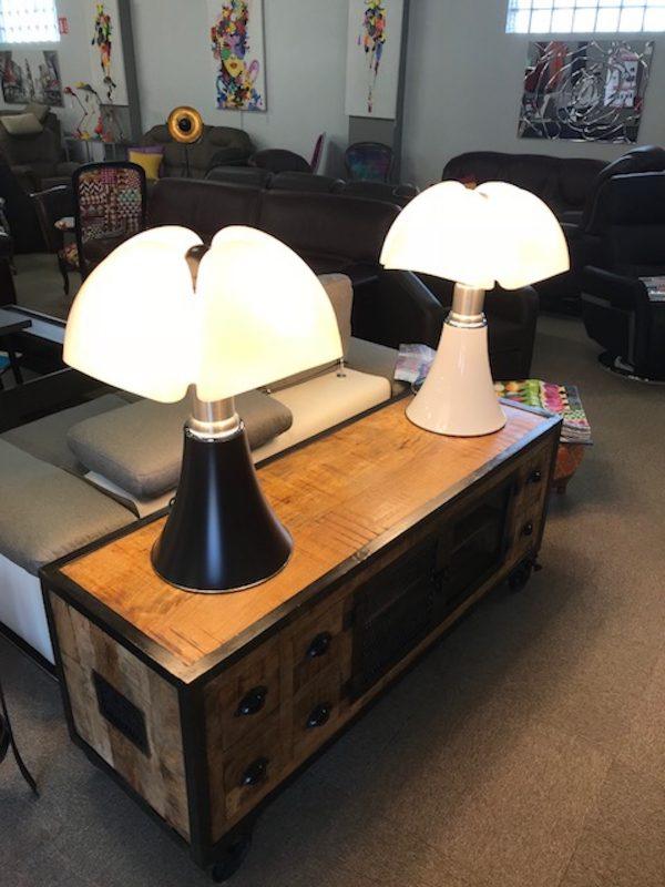 sieges marco - lampe pipistrello originale marron et blanc