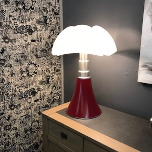 sieges marco - lampe pipistrello originale rouge pourpre